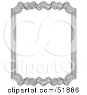 Clipart Illustration Of An Ornate Guilloche Border Version 3 by stockillustrations
