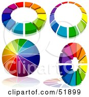 Royalty Free RF Clipart Illustration Of A Digital Collage Of Rainbow Logo Designs Version 1 by dero