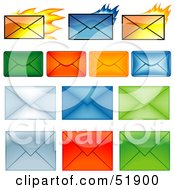 Royalty Free RF Clipart Illustration Of A Digital Collage Of Colorful Envelopes