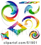 Royalty Free RF Clipart Illustration Of A Digital Collage Of Rainbow Logo Designs Version 2