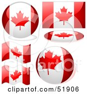 Royalty Free RF Clipart Illustration Of A Digital Collage Of Canada Flag Icons by dero