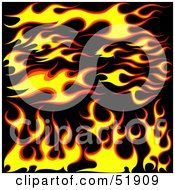 Digital Collage Of Flame Elements Version 1