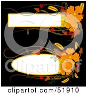 Royalty Free RF Clipart Illustration Of A Digital Collage Of Two Orange Flower Text Boxes by dero