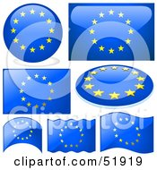 Royalty Free RF Clipart Illustration Of A Digital Collage Of Europe Flag Icons by dero