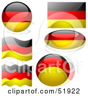 Royalty Free RF Clipart Illustration Of A Digital Collage Of Germany Flag Icons by dero
