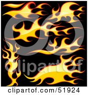 Royalty Free RF Clipart Illustration Of A Digital Collage Of Flame Elements Version 2 by dero