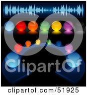 Digital Collage Of Colorful Illuminated Sound Buttons