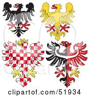 Royalty Free RF Clipart Illustration Of A Digital Collage Of Heraldic Eagle Elements Version 2 by dero