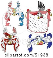 Royalty Free RF Clipart Illustration Of A Digital Collage Of Heraldic Helmet Elements Version 6 by dero