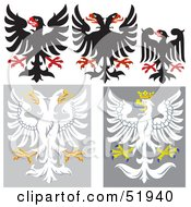 Royalty Free RF Clipart Illustration Of A Digital Collage Of Heraldic Eagle Elements Version 4 by dero