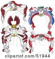Royalty Free RF Clipart Illustration Of A Digital Collage Of Heraldic Helmet Elements Version 4 by dero