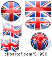 Royalty Free RF Clipart Illustration Of A Digital Collage Of United Kingdom Flag Icons