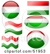 Royalty Free RF Clipart Illustration Of A Digital Collage Of Hungary Flag Icons by dero