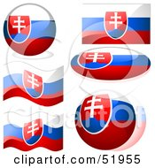 Royalty Free RF Clipart Illustration Of A Digital Collage Of Slovakia Flag Icons by dero