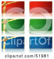 Royalty Free RF Clipart Illustration Of A Digital Collage Of Green And Red Tags