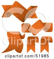 Royalty Free RF Clipart Illustration Of A Digital Collage Of Orange Banners Version 7