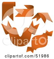 Royalty Free RF Clipart Illustration Of A Digital Collage Of Orange Banners Version 9