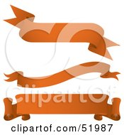 Royalty Free RF Clipart Illustration Of A Digital Collage Of Orange Banners Version 10