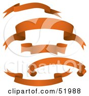 Royalty Free RF Clipart Illustration Of A Digital Collage Of Orange Banners Version 4
