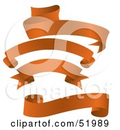 Royalty Free RF Clipart Illustration Of A Digital Collage Of Orange Banners Version 3