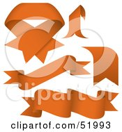 Royalty Free RF Clipart Illustration Of A Digital Collage Of Orange Banners Version 8