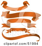 Royalty Free RF Clipart Illustration Of A Digital Collage Of Orange Banners Version 5