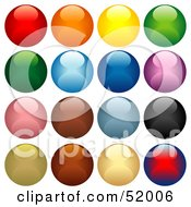Digital Collage Of Colorful Shiny Spheres