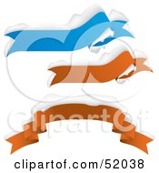Royalty Free RF Clipart Illustration Of A Digital Collage Of Blue And Red Snow Flocked Banners