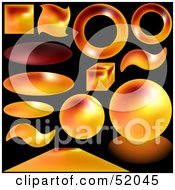 Royalty Free RF Clipart Illustration Of A Digital Collage Of Magma Buttons by dero