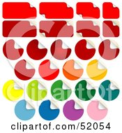 Royalty Free RF Clipart Illustration Of A Digital Collage Of Peeling Rectangular And Round Stickers
