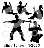Royalty Free RF Clipart Illustration Of A Digital Collage Of A Silhouetted Drinking Men In Santa Hats Version 1