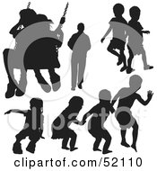 Royalty Free RF Clipart Illustration Of A Digital Collage Of Families Version 5