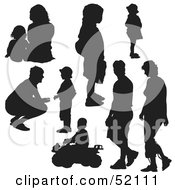 Royalty Free RF Clipart Illustration Of A Digital Collage Of Families Version 4