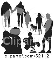 Royalty Free RF Clipart Illustration Of A Digital Collage Of Families Version 7