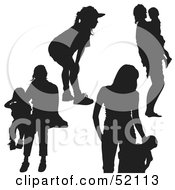 Royalty Free RF Clipart Illustration Of A Digital Collage Of Families Version 6
