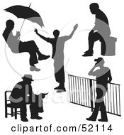 Royalty Free RF Clipart Illustration Of A Digital Collage Of People Outdoors by dero