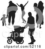 Royalty Free RF Clipart Illustration Of A Digital Collage Of Families Version 1