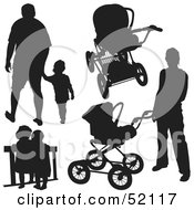 Royalty Free RF Clipart Illustration Of A Digital Collage Of Families Version 3