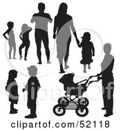 Royalty Free RF Clipart Illustration Of A Digital Collage Of Families Version 2