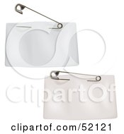Royalty Free RF Clipart Illustration Of A Digital Collage Of Two Blank White Price Tags With A Clothes Pin