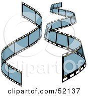 Royalty Free RF Clipart Illustration Of A Digital Collage Of Blue Film Strips Version 2 by dero