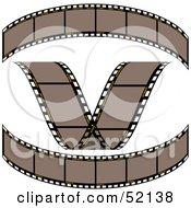 Royalty Free RF Clipart Illustration Of A Digital Collage Of Brown Film Strips Version 2 by dero