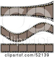 Royalty Free RF Clipart Illustration Of A Digital Collage Of Brown Film Strips Version 1 by dero