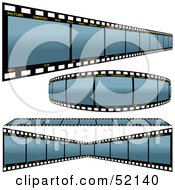 Royalty Free RF Clipart Illustration Of A Digital Collage Of Blue Film Strips Version 1 by dero