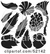 Poster, Art Print Of Digital Collage Of Floral Elements - Version 14