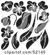 Poster, Art Print Of Digital Collage Of Floral Elements - Version 9
