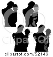 Royalty Free RF Clipart Illustration Of A Digital Collage Of Mothers And Children