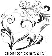 Poster, Art Print Of Digital Collage Of Floral Elements - Version 3