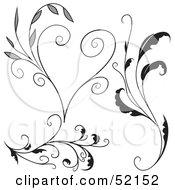 Poster, Art Print Of Digital Collage Of Floral Elements - Version 2