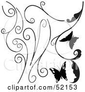 Poster, Art Print Of Digital Collage Of Floral Elements - Version 4